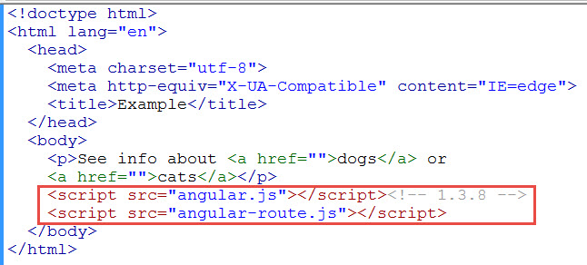 Simple example of ng view in angularjs learn web tutorials add reference to angularjs script pronofoot35fo Images