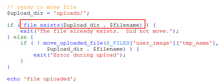 check if file exists