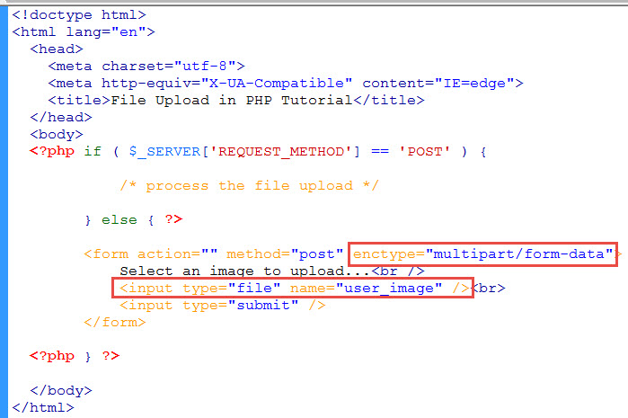 input type file php