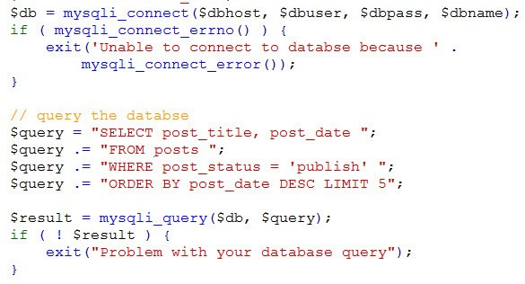 query the database