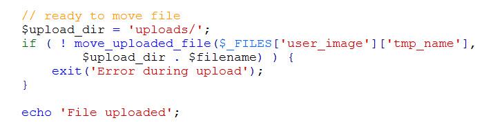upload file code