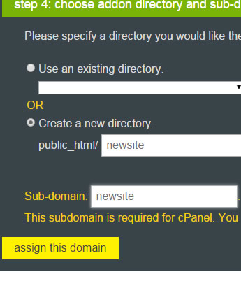 assign to new directory