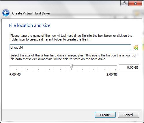 how to create a linux virtual machine using virtualbox