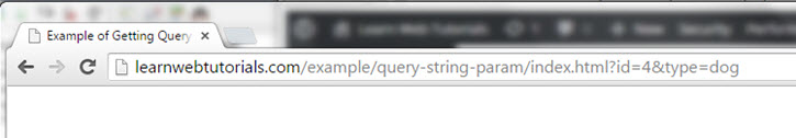 Get Query String Parameters using Javascript | Learn Web