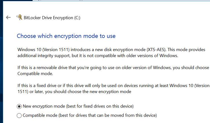 encryption-mode