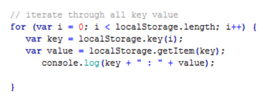 iterate-localstorage