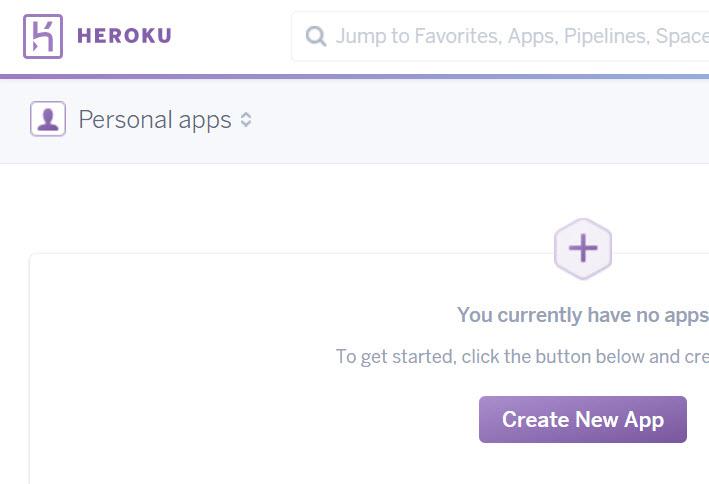 new heroku app