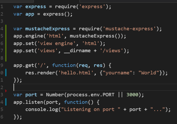 Using Mustache Templating Engine With Express Learn Web Tutorials