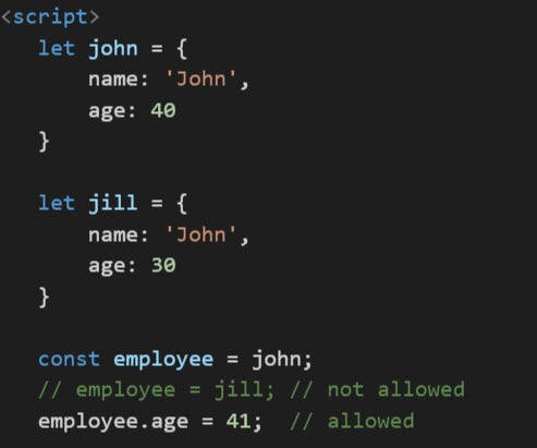 const keyword tutorial