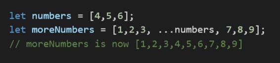 spread operator in arrays