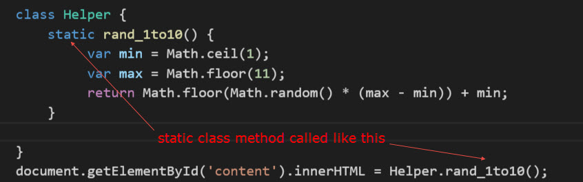 static class method