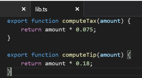 Library typescript module