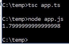 running typescript