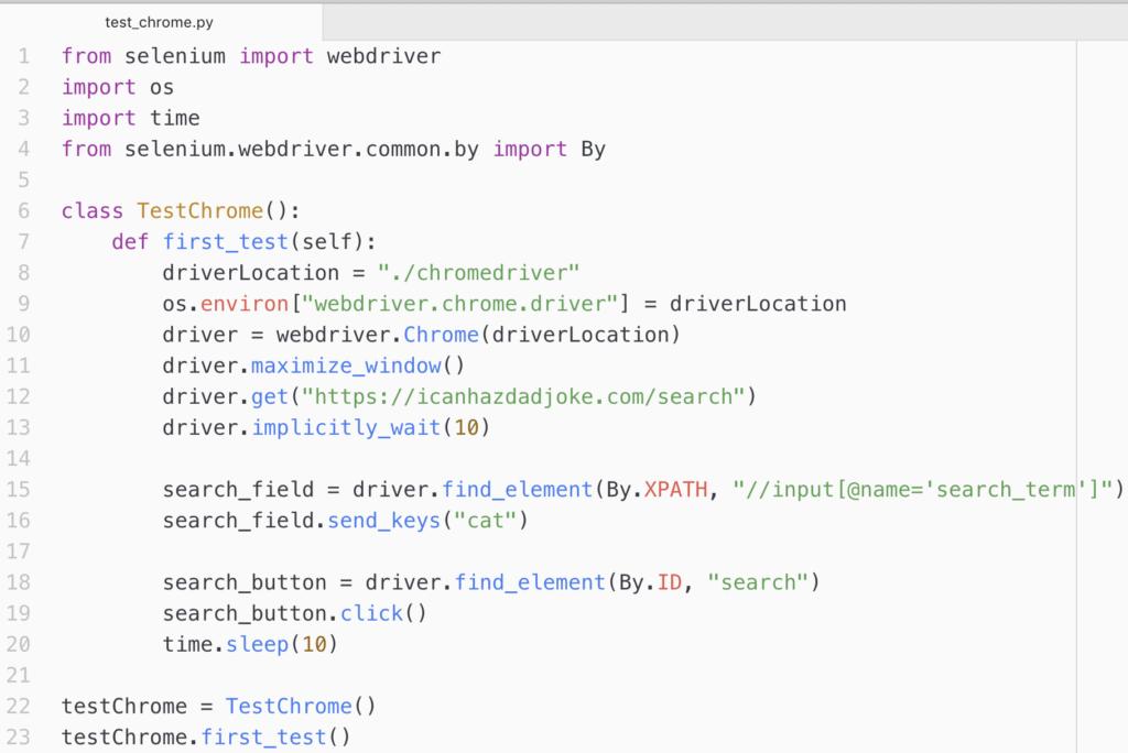 Tutorial writing Selenium test script in Python | Learn Web