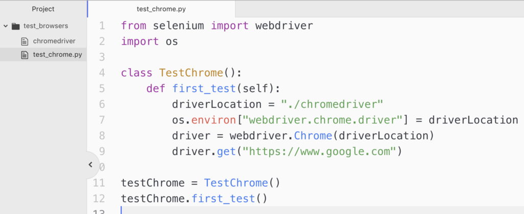 PYTHON SELENIUM SET CHROMEDRIVER PATH - GETTING STARTED WITH